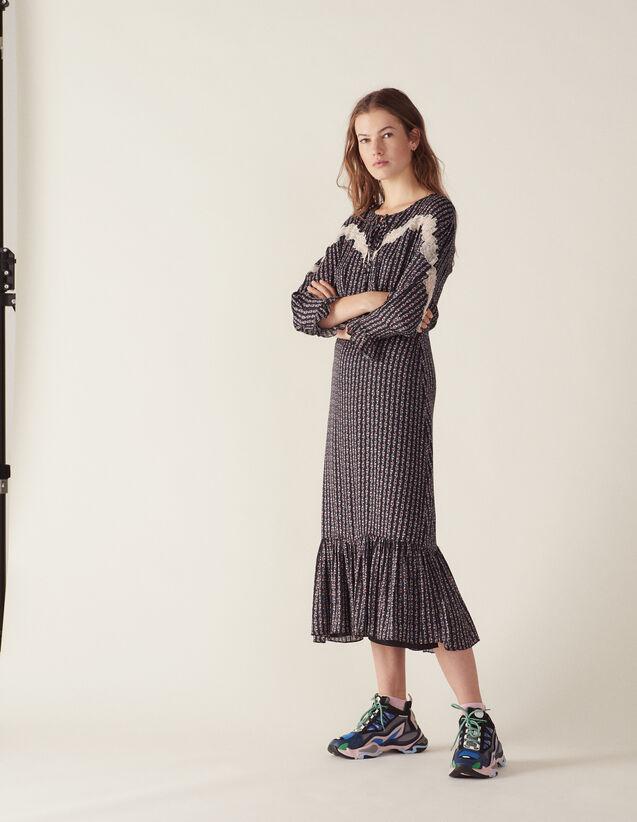 Vestido Largo Estampado Estilo Bohemio : LastChance-FR-FSelection color Negro