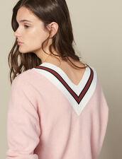 Jersey De Rayas En Contraste : FBlackFriday-FR-FSelection-Pulls&Cardigans color Rosa