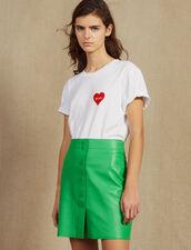 Falda De Piel Neón : Faldas & Shorts color Verde