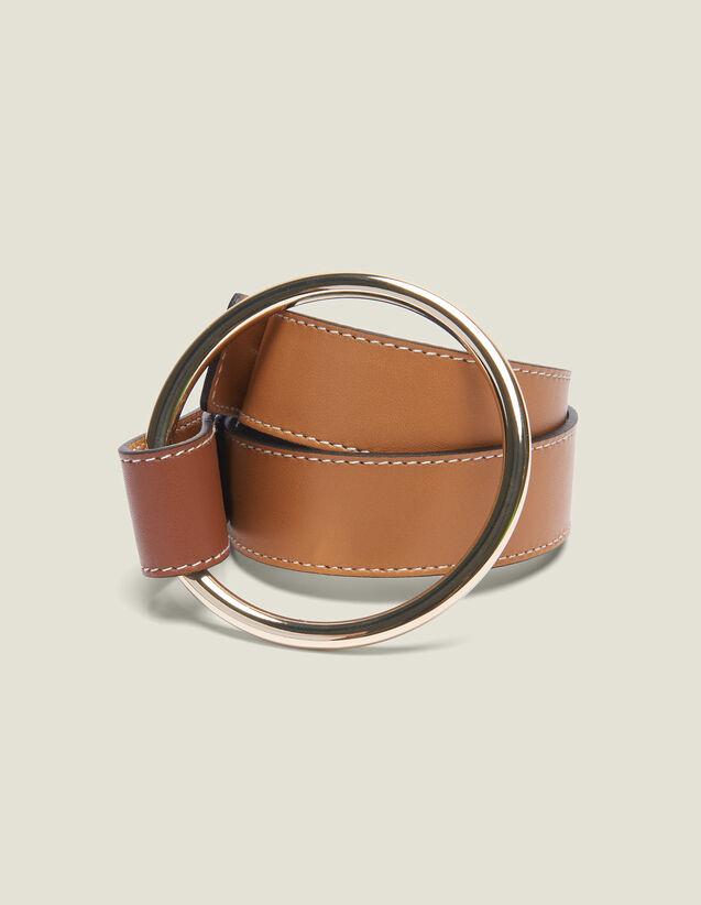 Cinturón Con Cierre De Anilla : Coleccion de verano color Camel