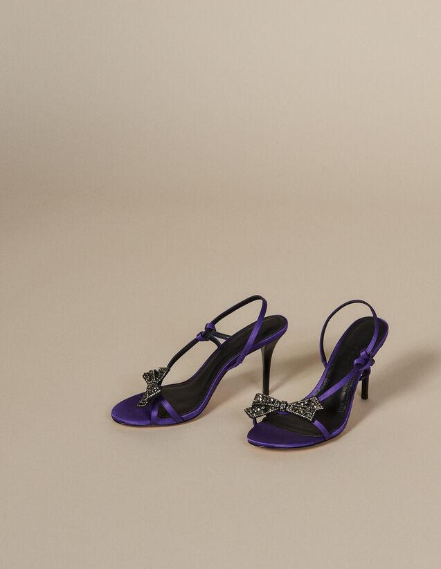 Sandalias De Satén Con Nudo De Estrás : Todos Zapatos color Violeta