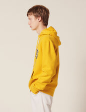Hoodie Con Parche Con Mensaje : SOLDES-CH-HSelection-PAP&ACCESS-2DEM color Amarillo