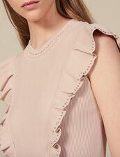 Vestido de punto de canalé con perlas : FBlackFriday-FR-FSelection-Robes color Carne