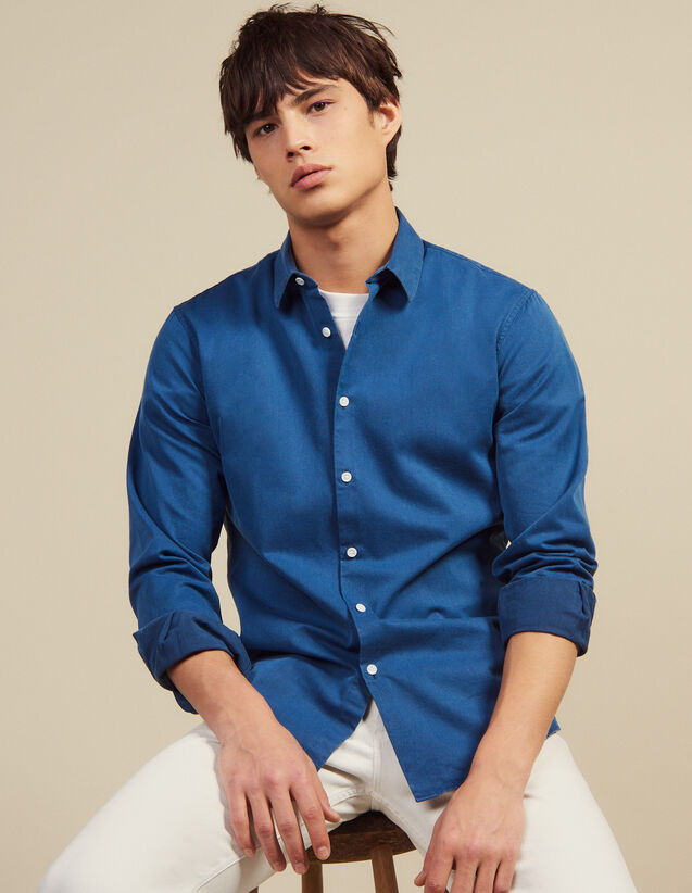 Camisa Informal De Cambray Desteñido : LastChance-RE-HSelection-Pap&Access color Blue Vintage - Denim