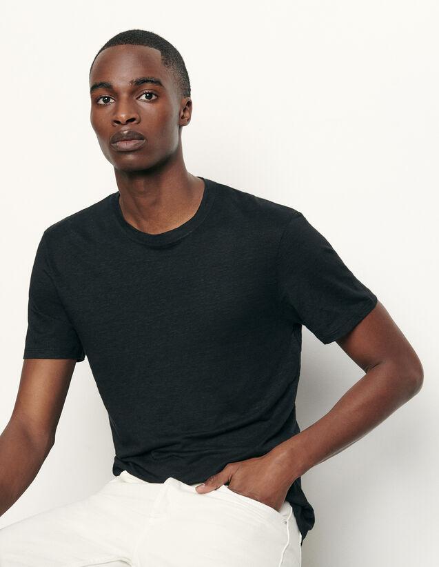 Camiseta de lino : Camisetas & Polos color Negro
