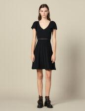 Vestido corto de punto : FBlackFriday-FR-FSelection-30 color Negro