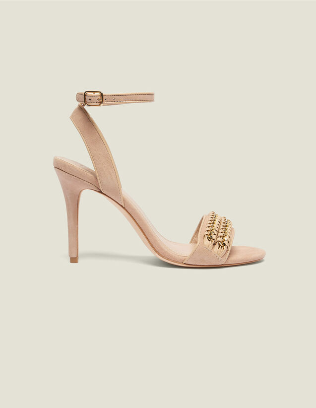 Sandalias Con Detalle De Cadena Trenzada : Todos Zapatos color Nude