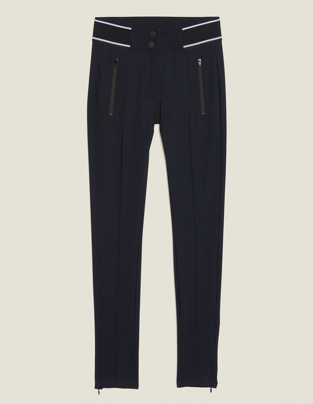 Pantalón De Estilo Legging : Pantalones color Negro