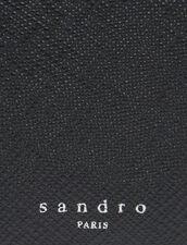 Cartera Con Solapa De Piel Saffiano : Tarjeteros & Carteras color Negro