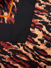 Fular De Seda Estampada : Bufandas color Negro