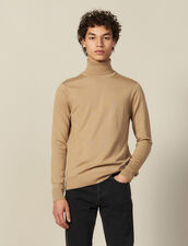 Jersey de cuello vuelto de lana : Jerseys & Cárdigans color Beige