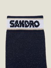 Calcetines De Lúrex Con Logotipo Sandro : Calcetines color Marino