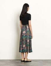 Falda larga estampada : Faldas & Shorts color Negro