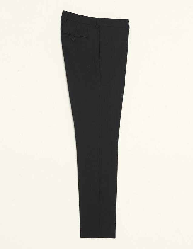 Pantalón De Traje De Lana : Trajes & Smokings color Negro
