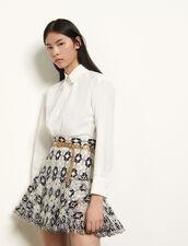 Falda corta con bordado inglés : Faldas & Shorts color Marino