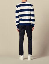 Jersey de rayas anchas : Jerseys & Cárdigans color Ecru/Rouille