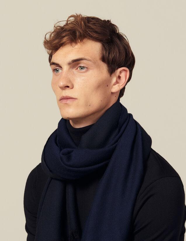 Bufanda bicolor reversible : Bufandas color Negro