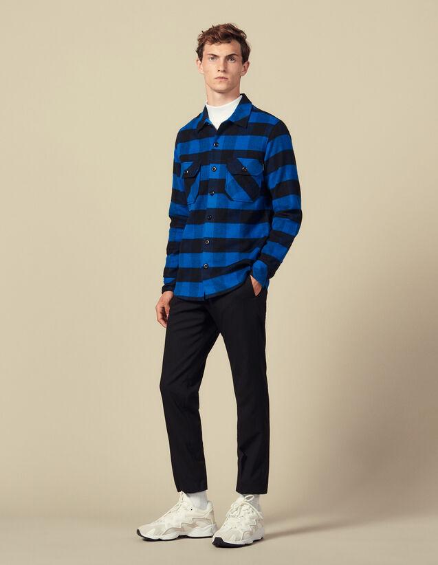 Camisa de cuadros de algodón : Colección de Invierno color Azul