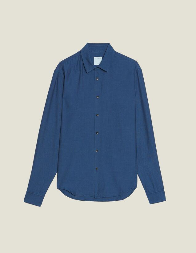 Camisa De Tejido Chevron Tono Sobre Tono : Sélection Last Chance color Marino