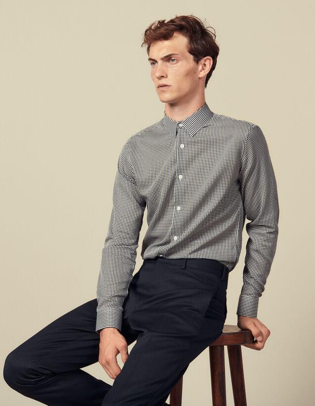 Camisa sin costuras de microcuadros : Camisas color Marino