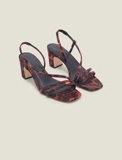 Sandalias de tejido estampado leopardo : FBlackFriday-FR-Selection-Chaussures color Leopard orange