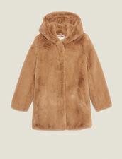 Abrigo De Imitación De Piel : Abrigos color Camel