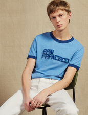 Camiseta Con Mensaje : LastChance-FR-H40 color Sky Blue