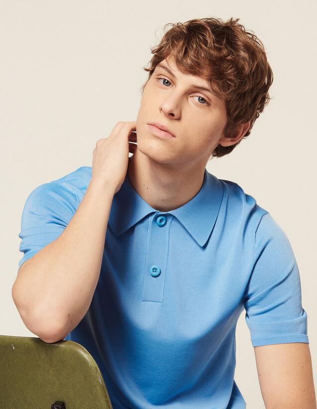Polo De Punto Fino De Manga Corta : Camisetas & Polos color Crudo