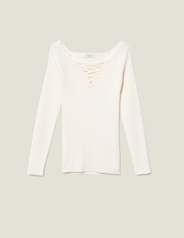 Jersey Con Cuello Atado : FBlackFriday-FR-FSelection-30 color Blanco