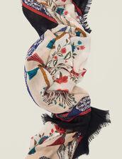 Fular Estampado De Lana : null color Multicolor