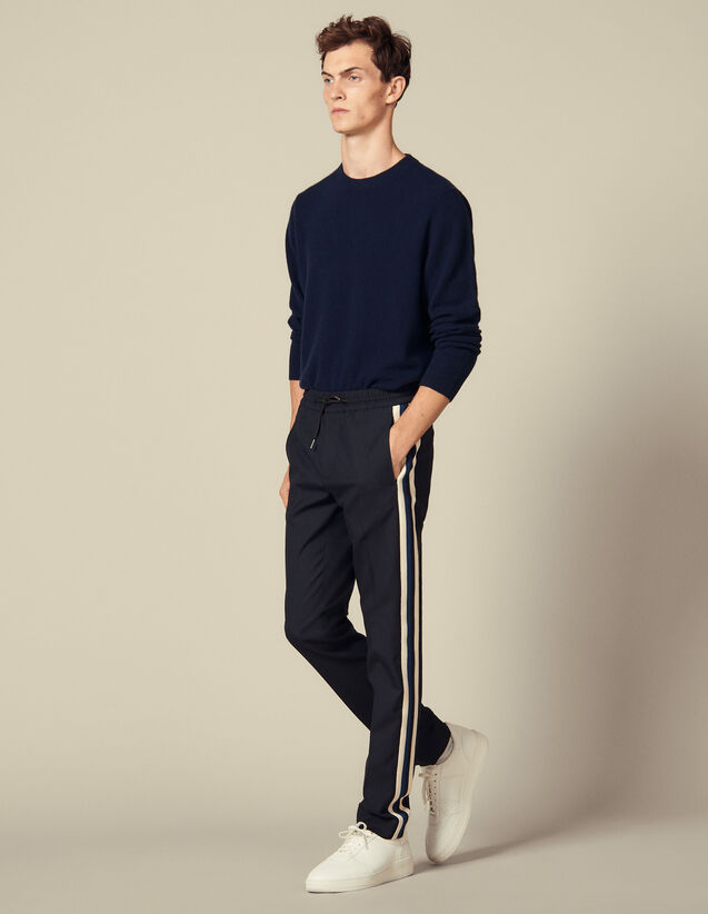 Pantalón con pasamano en los laterales : Pantalones & Bermudas color Marino