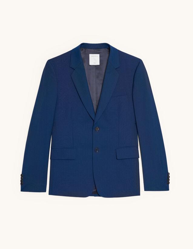 Chaqueta de traje de lana y mohair : Trajes & Smokings color Azul
