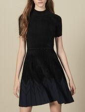 Vestido Corto De Punto : Vestidos color Negro