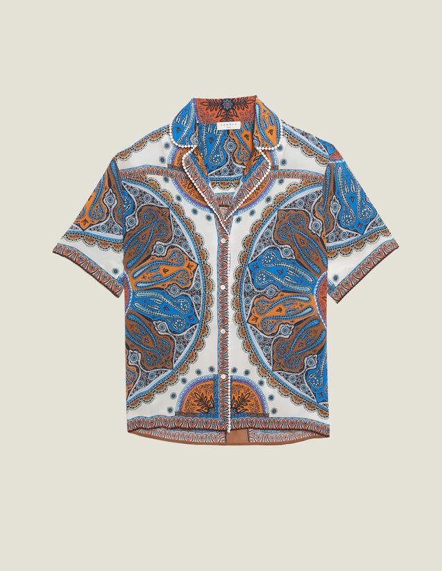 Camisa Estilo Pijama Estampada : Tops & Camisas color Multicolor