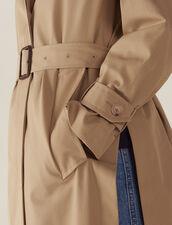 Abrigo Estilo Gabardina Con Cinturón : Abrigos color Beige