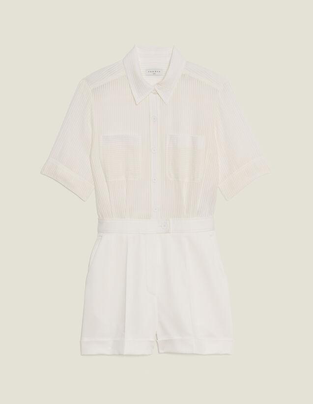 Mono Corto Efecto 2En1 : Faldas & Shorts color Crudo