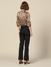 Vaquero evasé con aberturas : FBlackFriday-FR-FSelection-Pantalons&Jeans color Negro