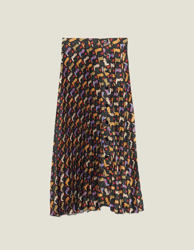 Falda cruzada plisada y estampada : FBlackFriday-FR-FSelection-30 color Negro