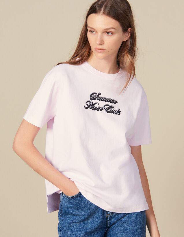 Camiseta Con Inscripción : Camisetas color Rosa