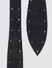 Cinturón Ancho Anudable Con Tachuelas : Toda la colección de Invierno color Negro