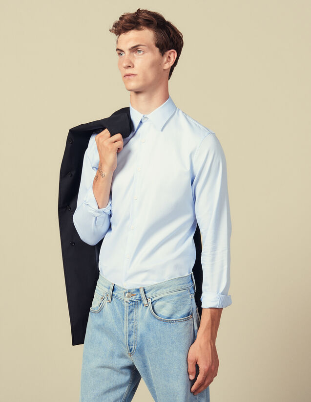 Camisa Formal De Tejido Oxford : Camisas color Sky Blue