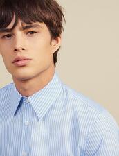 Camisa Formal De Rayas De Algodón : Camisas color Sky Blue