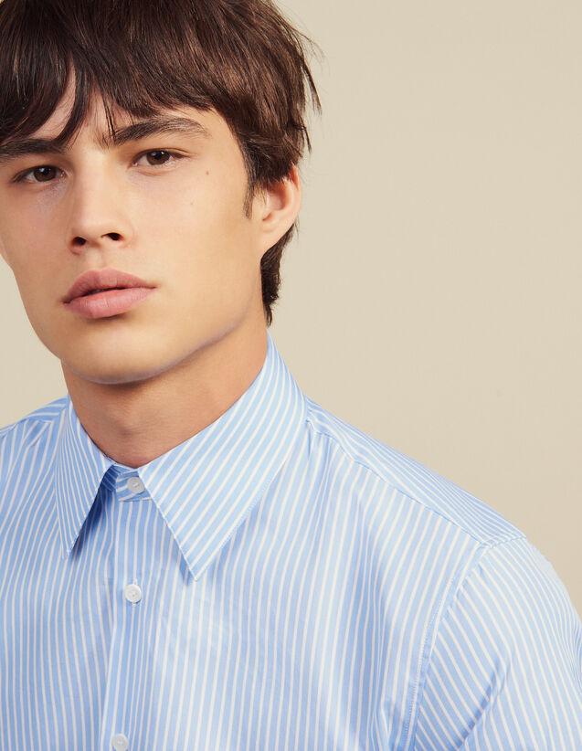 Camisa Formal De Rayas De Algodón : LastChance-RE-HSelection-Pap&Access color Sky Blue