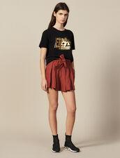 Camiseta De Algodón Con Mensaje : Novedades color Negro