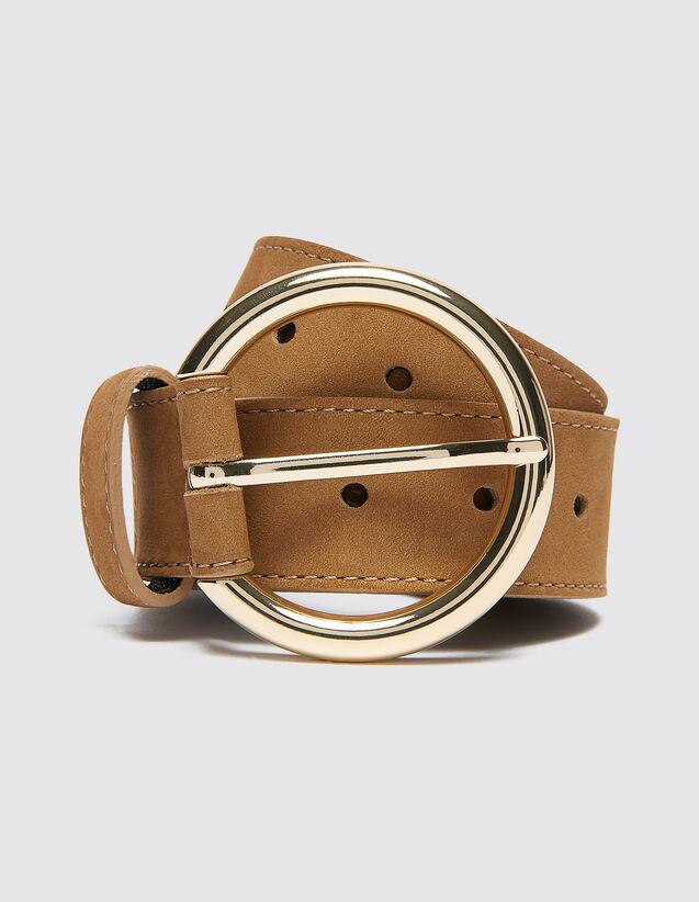 Cinturón De Piel : Cinturones color Marino Oscuro