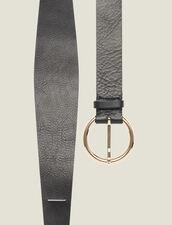 Cinturón de doble vuelta de piel : Toda la colección de Invierno color Negro
