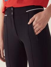 Pantalón De Estilo Legging : null color Negro