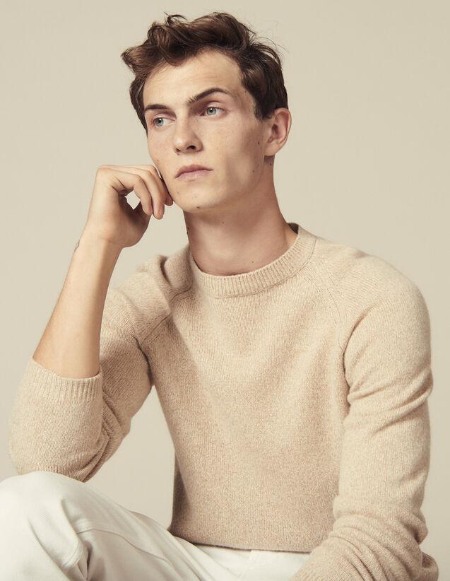 Jersey de manga raglán de mezclilla : Jerseys & Cárdigans color Camel