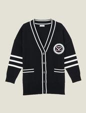 Cárdigan de rayas en contraste : LastChance-UK-FSelection-PAP&ACCESS color Negro