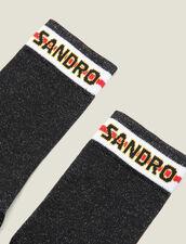 Calcetines De Lúrex Con Logotipo Sandro : Calcetines color Negro